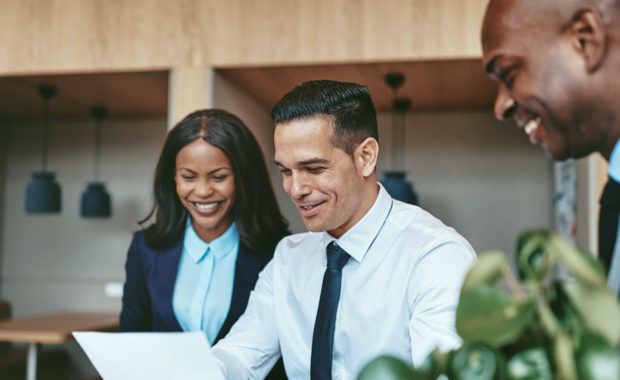 a small business speaking with a remote hr consulting firm