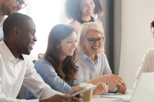 employees are enthusiastic to work together after the workplace conflict was resolved