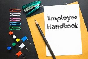 employee handbook on white paper