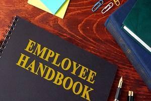 employee handbook or manual in a office