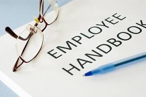 employee handbook with specs on it