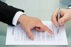 employee signing the contracts